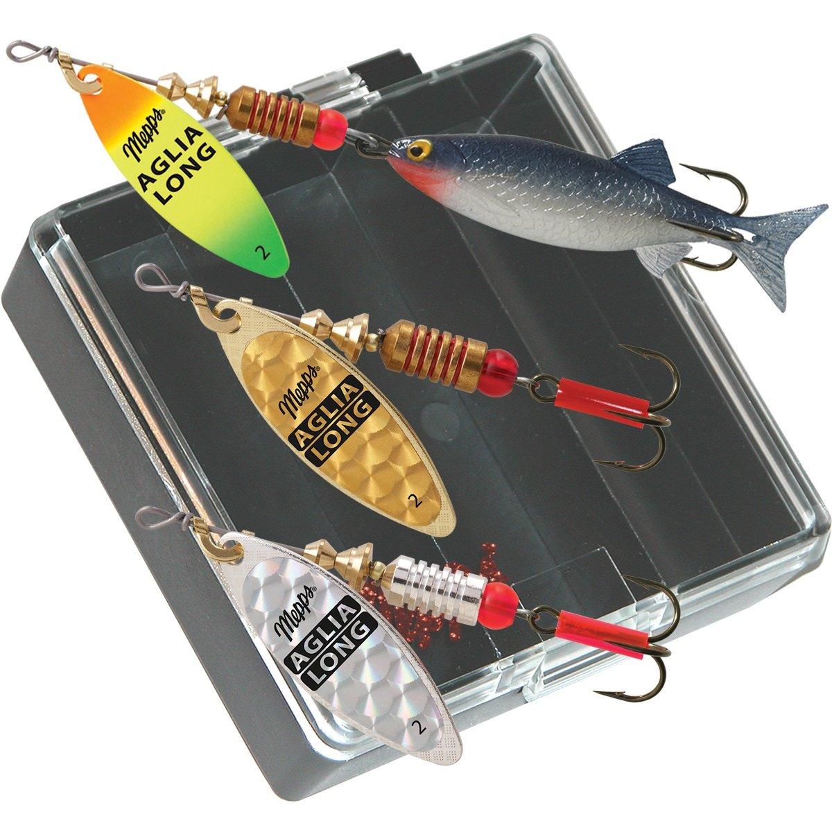 Mepps Aglia Long Plain Bass Fishing Lure Pocket Pack