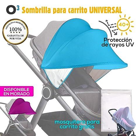 Sombrilla Carrito Bebe Universal Con Mosquitera Carro Bebe Universal - Sombrilla Carrito Bebe - Toldo Para