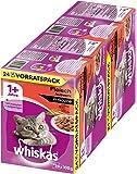 Whiskas Katzenfutter 1+ für erwachsene Katzen in Sauce oder Gelee / 48 Portionsbeutel