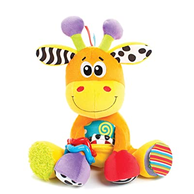 Playgro Textured On-The-Go Stem Toys, Discovery Friend Giraffe : Baby