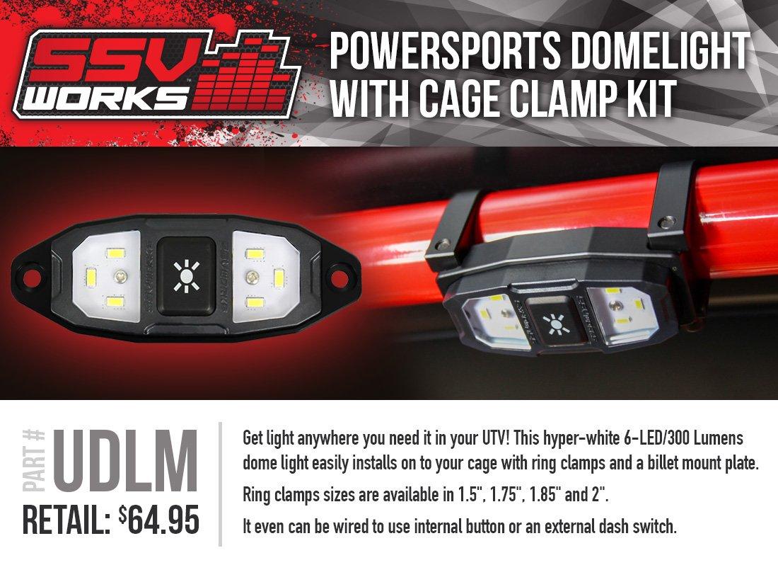 Clamp on LED dome light (1.75') SSV Works Inc.