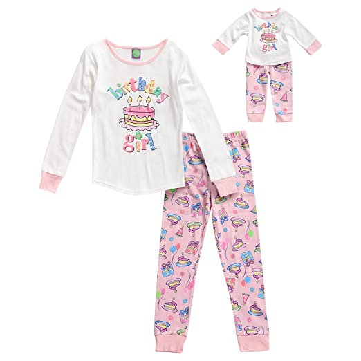 Dollie   Me Girls  Little Snug Fit Sleepwear Set and Matching Doll Outfit 039b163c0