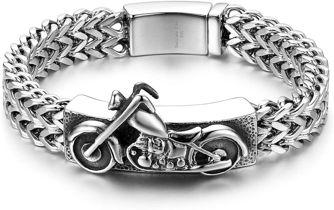 Armband als Königskette Eindrucksvolles schweres Edelstahl Biker
