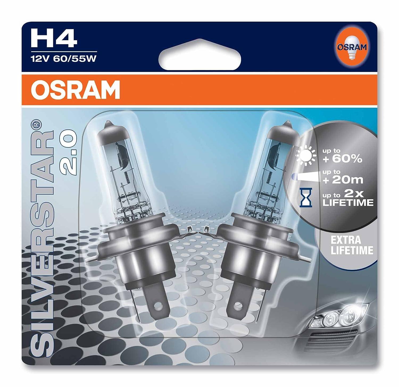 2 pezzi OSRAM COOL BLUE INTENSE H4 64193CBI-HCB 12V duobox proiettori alogeni per auto