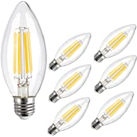 LED Light Bulb, CMYK Non-Dimmable 4W C35 Antique Edison Screw LED Filament Bulbs 40W Incandescent Replacement for…