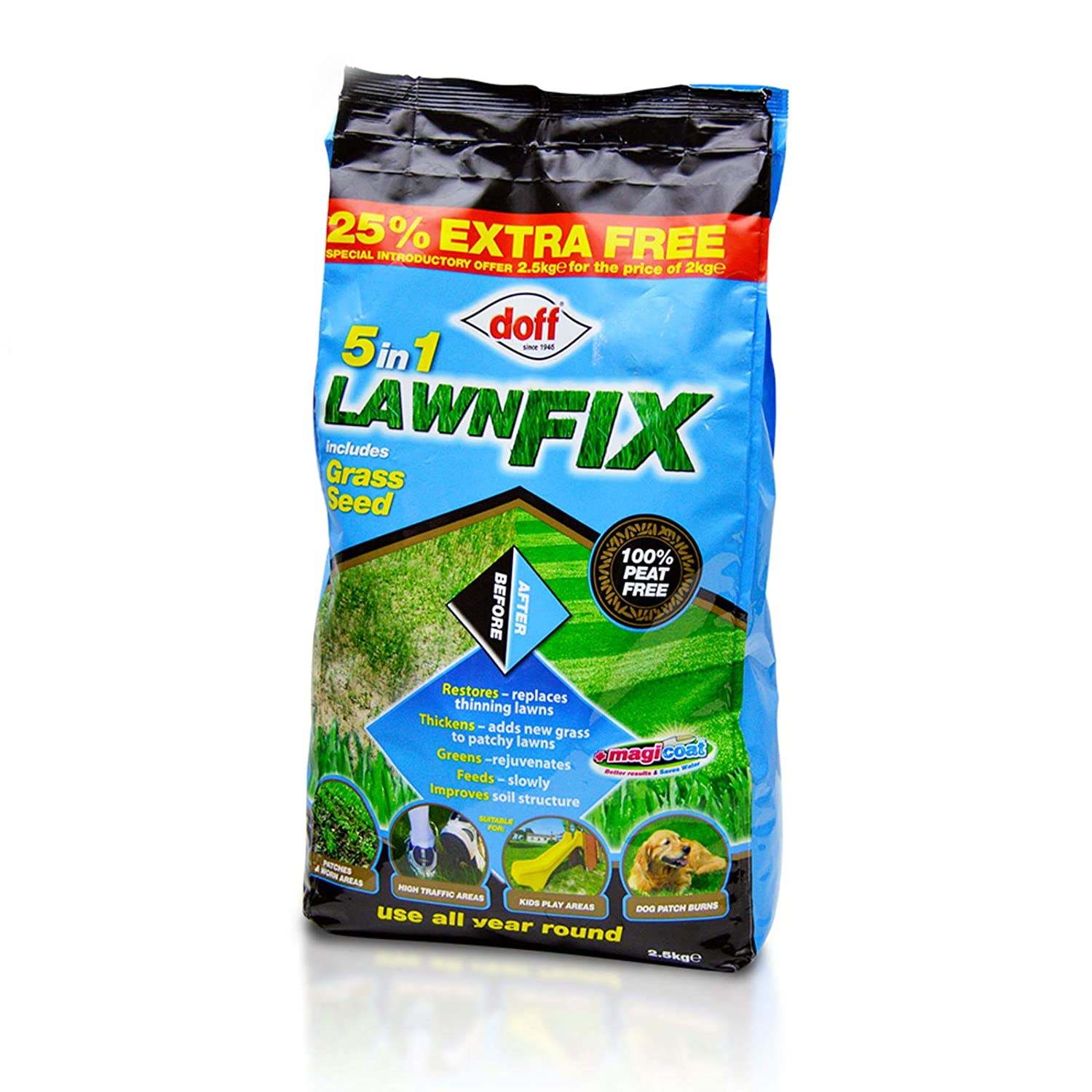 5 in 1 LawnFix Feed, use all year round UK Home Shopping Ltd