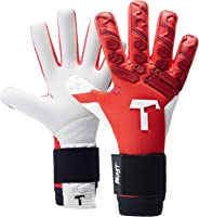 T1TAN Goalie Gloves for Adult Keepers, Goalkeeper Gloves Men, Negative Cut Soccer Gloves and 4mm pro Grip - Various Sizes an
