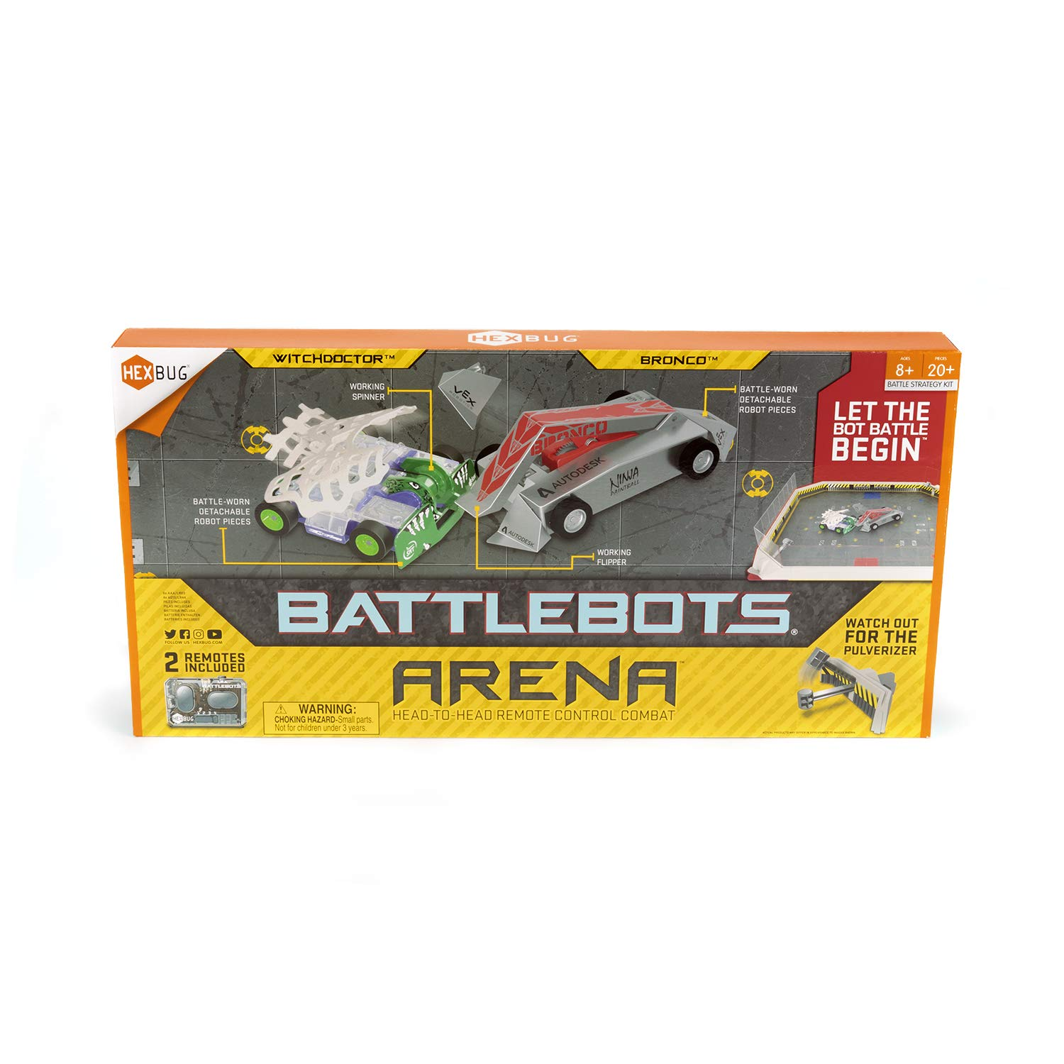 HEXBUG BattleBots Arena (Bronco and Witch Doctor)