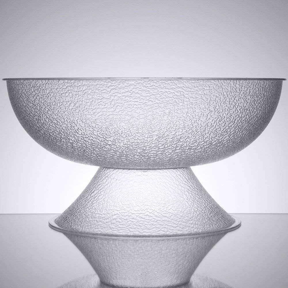 TableTop King PPB23176 40 Qt. Pebbled Pedestal Punch Bowl by TableTop King