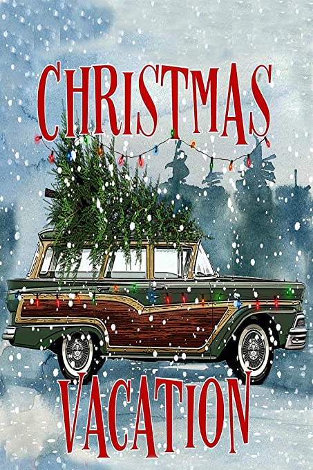 Christmas Vacation Car.Christmas Vacation Station Wagon With Tree Decorative Garden Flag Double Sided 12 X 18 Inches Car With Tree Sign Banner