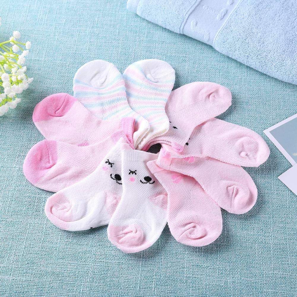 swanluck 5pairs//Lot Cartoon Toddlers Kids Socks Cute Baby Boys Girls Cotton Socks