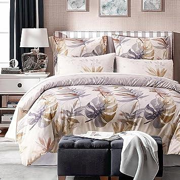 Dushow Tencel Lyocell Baumwolle 3 Stück Bettbezug Und Kissenbezüge