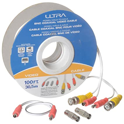 100L RG58/U Male-To-Male BNC Coaxial Video Cable,