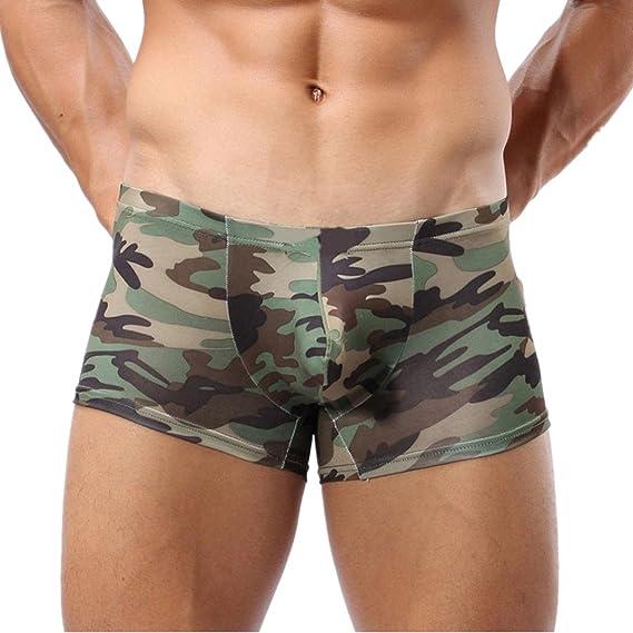 LuckyGirls ❤️ Bóxer para Hombre Sexy Tanga Ropa Interior G-String Erotica Camuflaje Calzoncillos JqQGwLcW