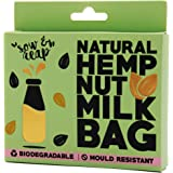 Sow & Reap | 100% Natural Hemp Nut Milk Bag | Eco Friendly Strainer for Nut and Seed Milk | Almond Milk Maker | Anti Mould & Biodegradable | Reusable Bag | U-Shape Design
