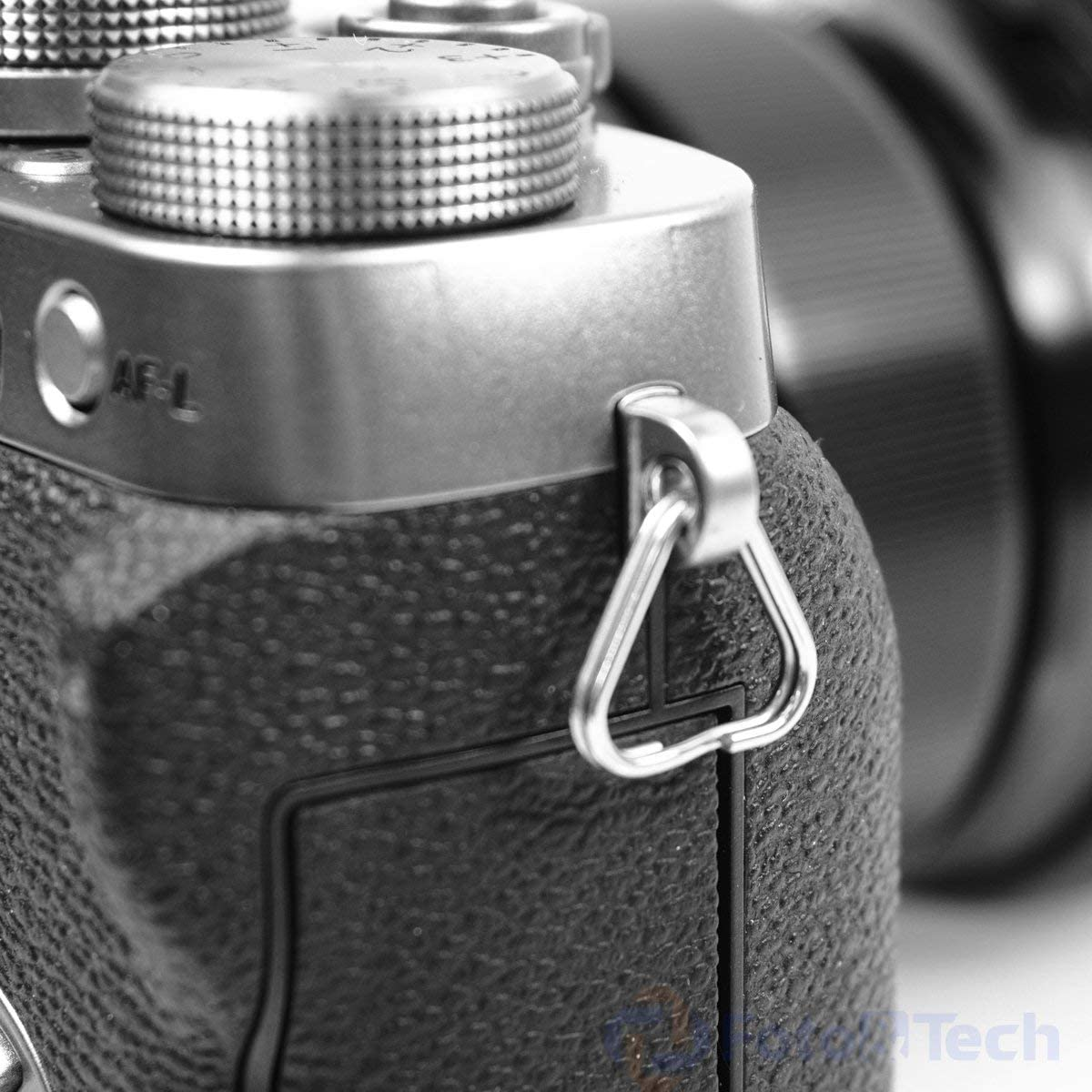 Foto/&Tech Extra Thick Extra Durable 100/% Stainless Steel 4PCS Lug Ring Camera Strap Triangle Split Ring Hook Compatible with Fujifilm Lecia Nikon Canon Sony Olympus Pentax Panasonic SLR RF Mirrorless