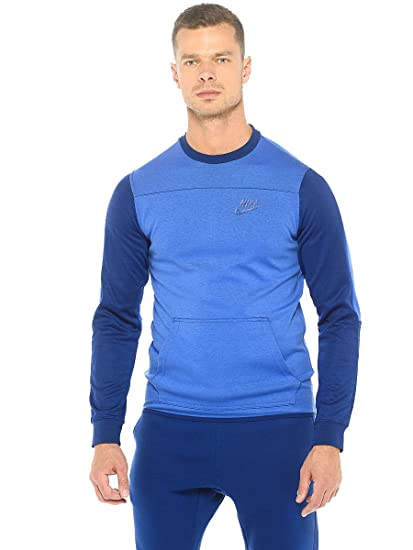 Nike M NSW AV15 CRW FLC T Shirt à Manches Longues pour