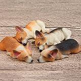 MJY屋 犬 飾り 装飾 フィギュア ギフト プレゼント マグネット 4個セット (コーギー)