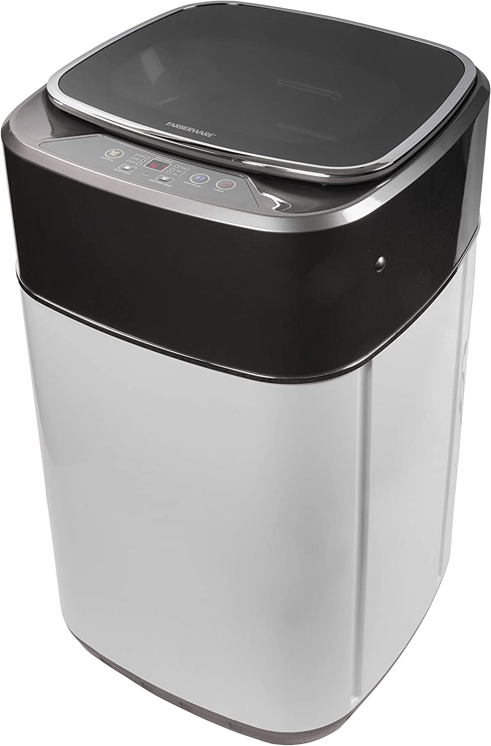 Farberware ProfessionalFCW10BSCWHA 1.0 Cu. Ft. PortableClothes Washer with 7-lb Load Capacity, Silver & Chrome