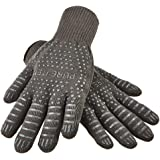 I-PURE ITEMS TM 932°F Extreme Heat Resistant Oven Gloves - EN407 Certified BBQ Gloves for Cooking, Grilling, Baking - Set of 2 with Bonus Silicone Brush for Free