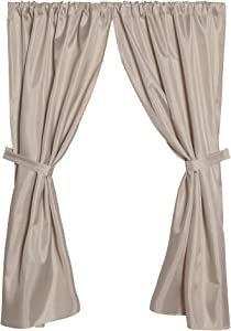 Carnation Home Fashions Polyester Fabric Linen Window Curtain