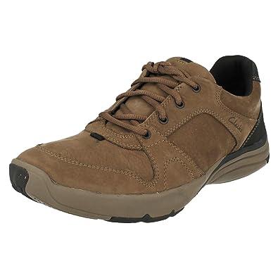 Clarks Wave Port Mens Casual Shoes 11 Mushroom Nubuck