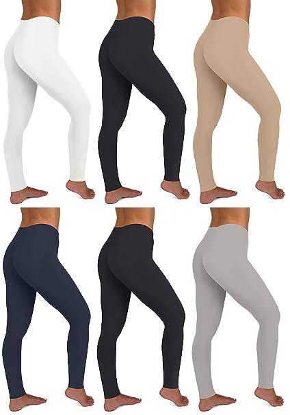 Amazon.com: Sexy Basics - Mallas elásticas de algodón para ...