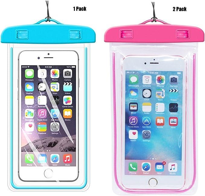 1 PackBlue + unidades rosa Universal resistente al agua Teléfono ...