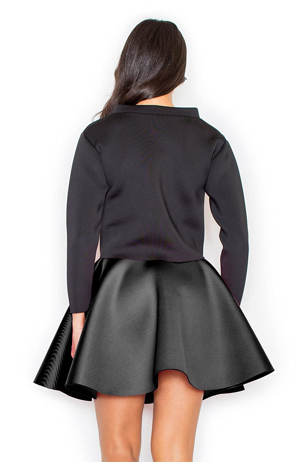 Scuba-knit A-shaped skirt by Figl