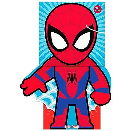 Spiderman Tarjeta de felicitación para cumpleaños, diseño ...