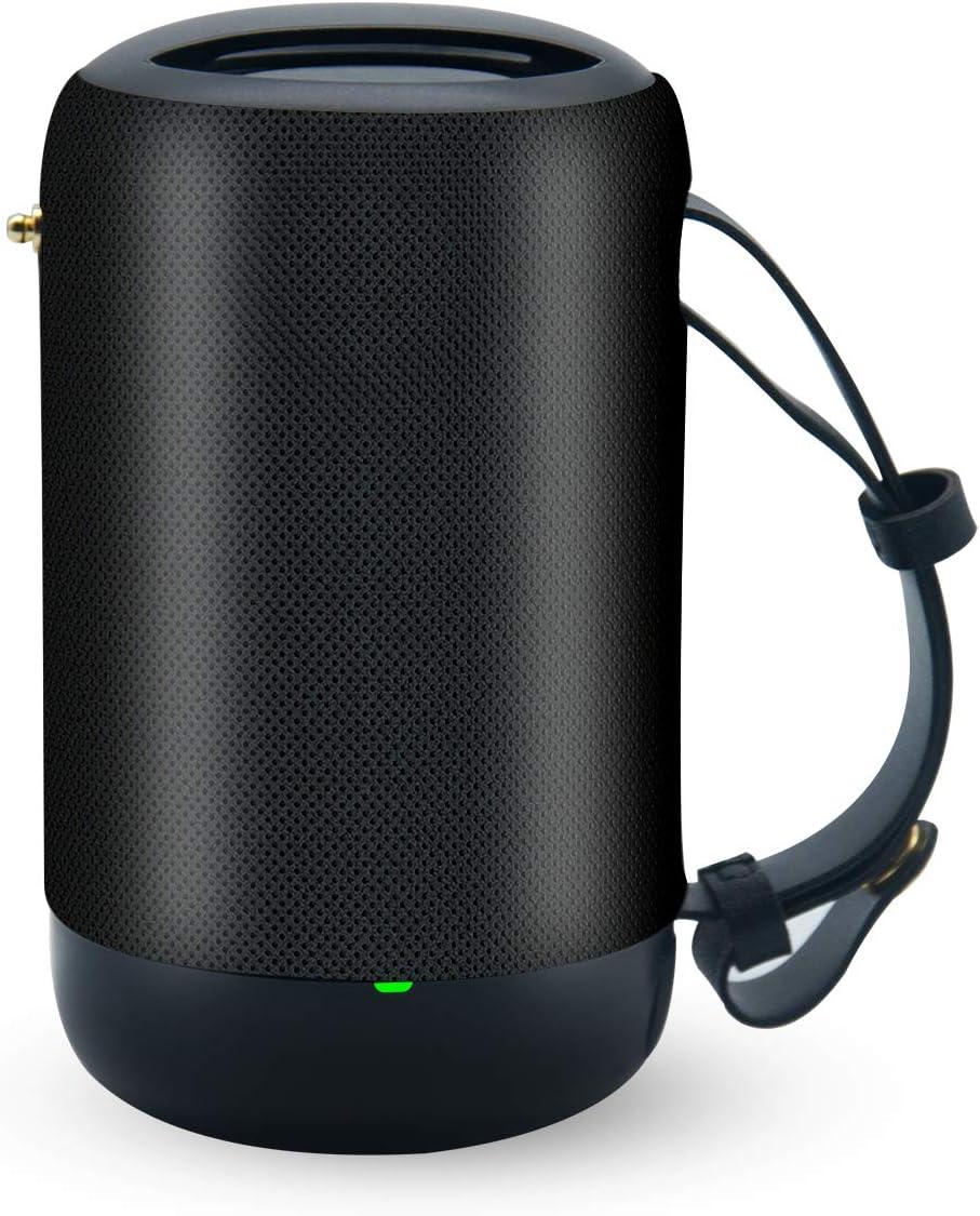 Dusche Party Schwarz Mini Bluetooth Lautsprecher mit Radio BYONDSELF,Tragbarer Bluetooth Drahtloser Lautsprecher wasserdicht,Outdoor Bluetooth Speaker Mit Bis Zu 10 Stunden Akku,F/üR Heim//Outdoor