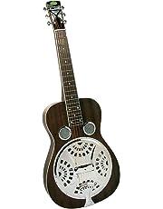 Regal RD-52 Artist Series Squareneck Black Lightning Resophonic Guitar - Translucent Black