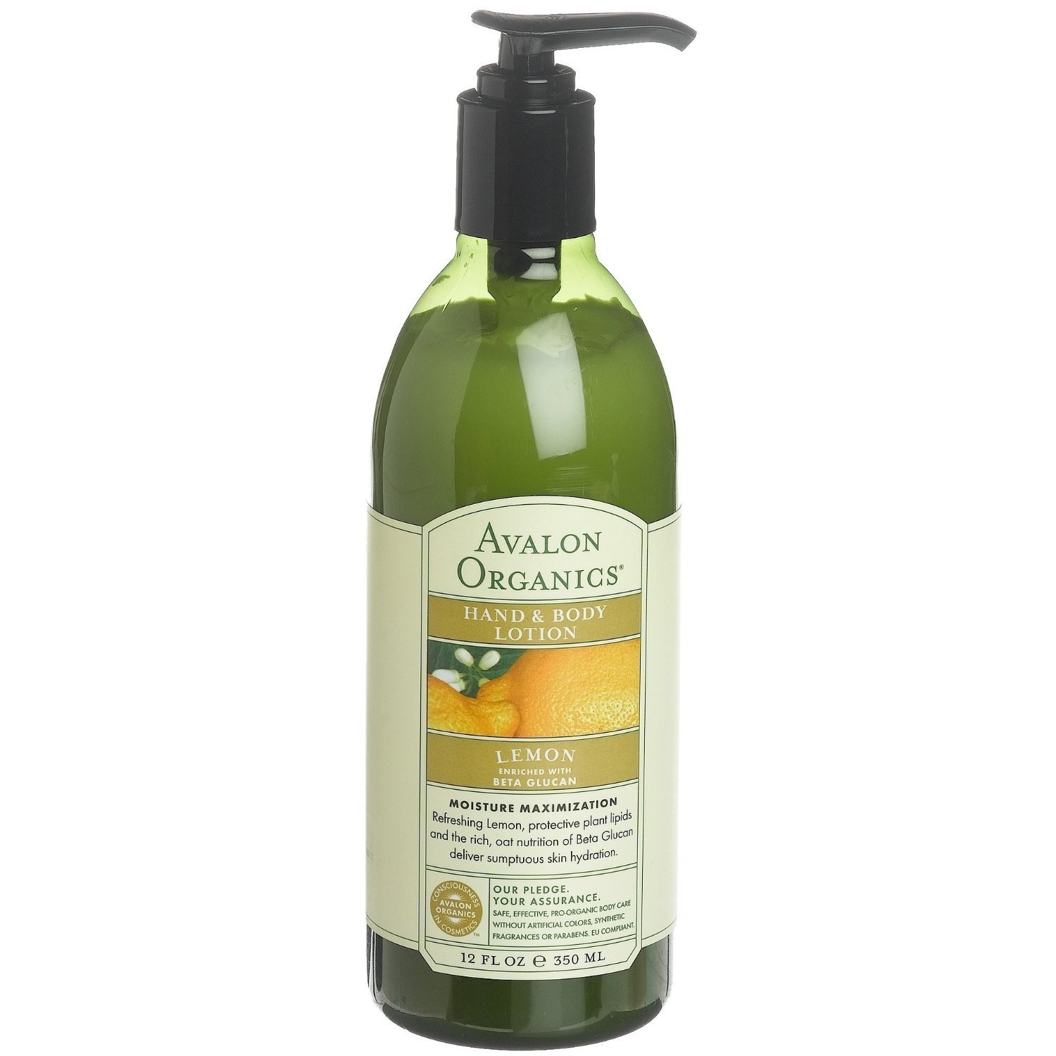 Avalon Organics Lemon Hand and Body Lotion, 12 Ounce -- 3 per case.