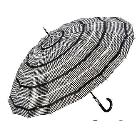 Paraguas Cacharel blanco y negro resistente