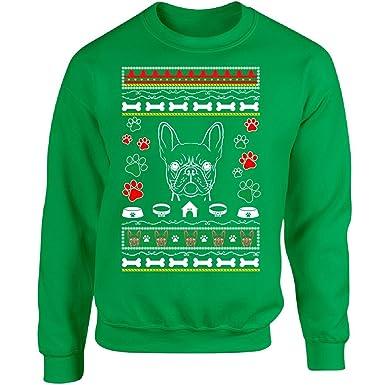 ugly christmas sweater french bulldog dog design ttd12 adult sweatshirt