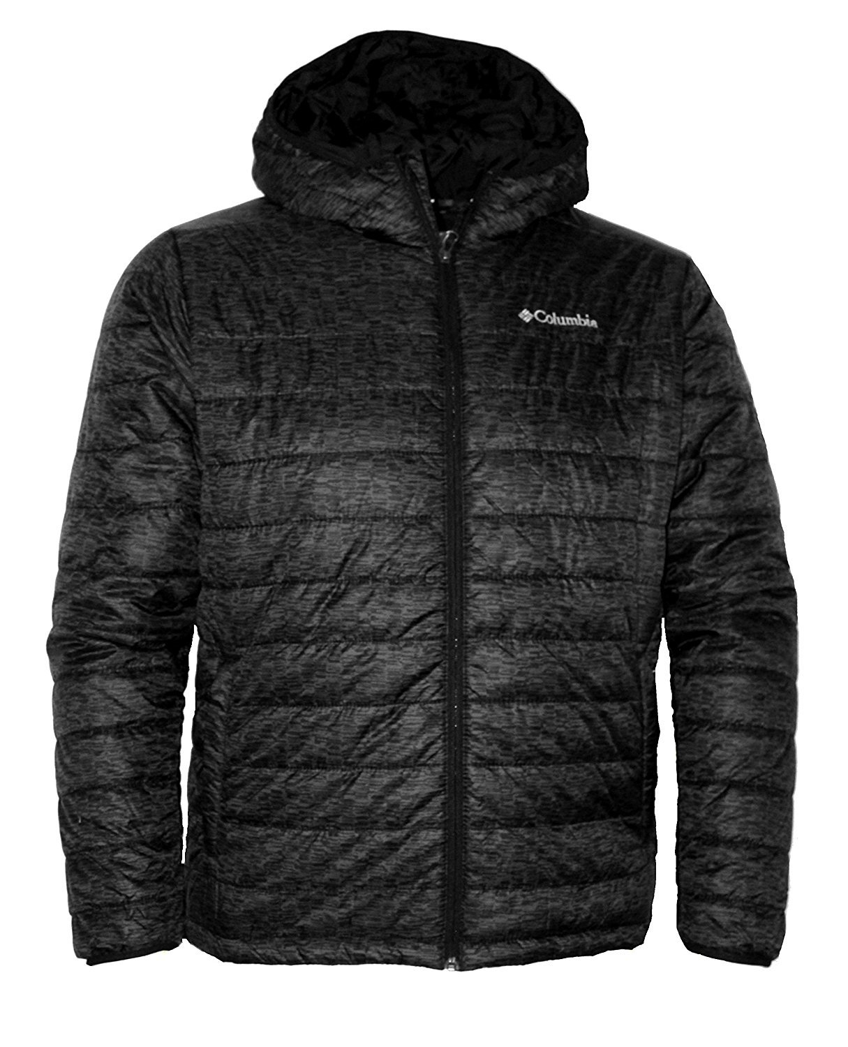 Columbia Men's Crested Butte Omni-Heat Hooded Jacket, Black/Space Dye (Medium) by Columbia