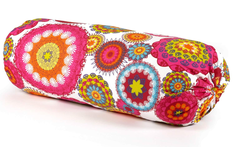 ecoYoga Bolster Mandala para Yoga Relleno de Lana: Amazon.es ...