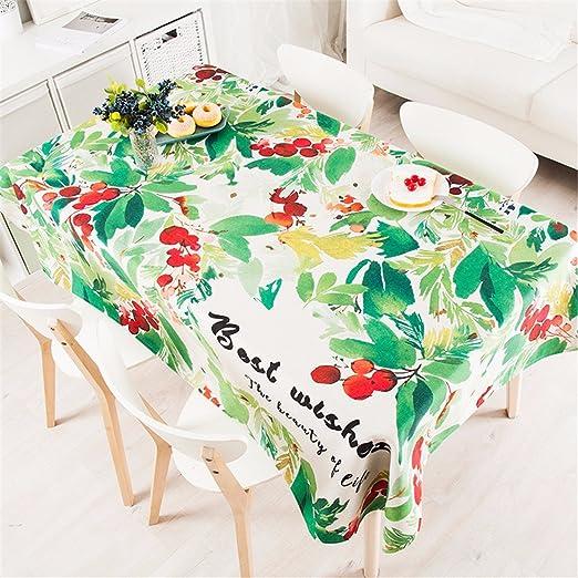110 * 110 cm Beige Verde Cherry Leaf País estilo ins Instagram ...