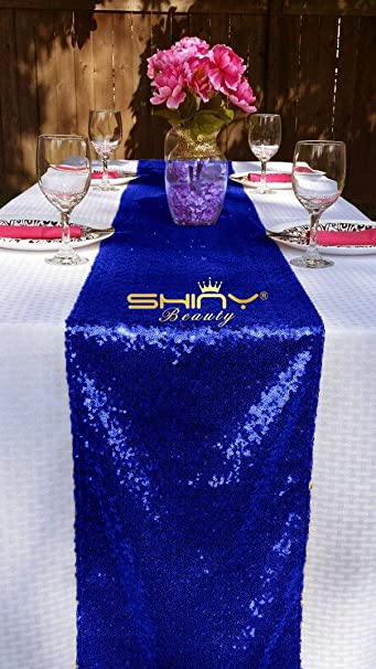ShinyBeauty Sparkly Navy Blue Sequin Table Runner Wedding/Events Decoration 30 * 180cm Wedding Decorations (Can Choose Your Color): Amazon.co.uk: Kitchen & ...