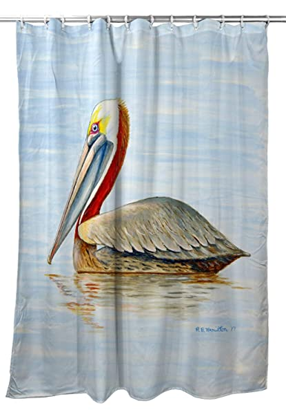 Amazon Betsy Drake Summer Pelican Shower Curtain Home Kitchen