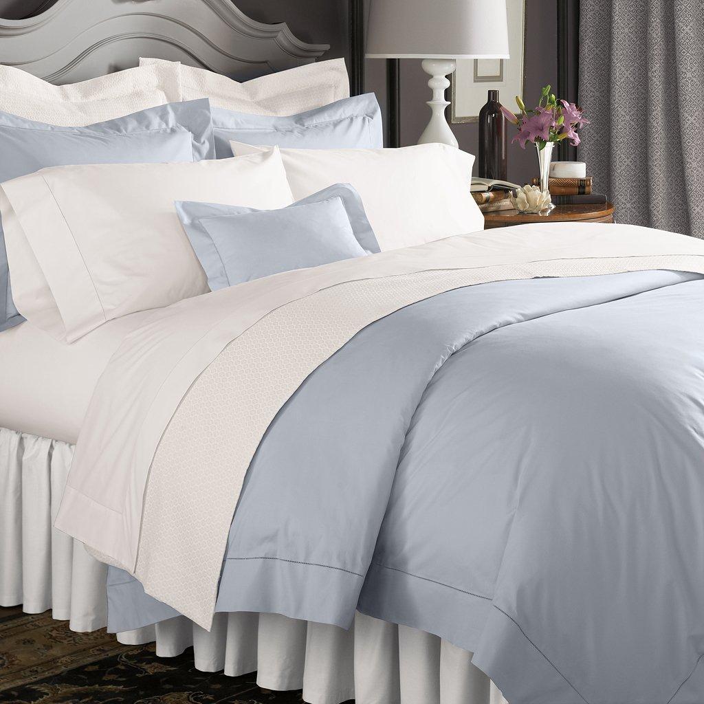 Almond Boudoir Sham 12x16 Celeste by Sferra, Standard Pair Pillowcases, White