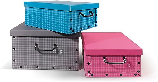 Perfetto Caja de Cartón Quadretti-Dimension-38 x 30 x 16 cm, Multicolor, Talla Única: Amazon.es: Hogar