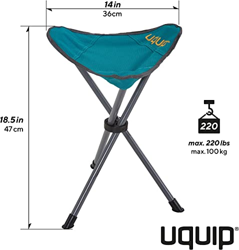 Uquip Darcy Portable Folding Tripod Camping and Sports Stool