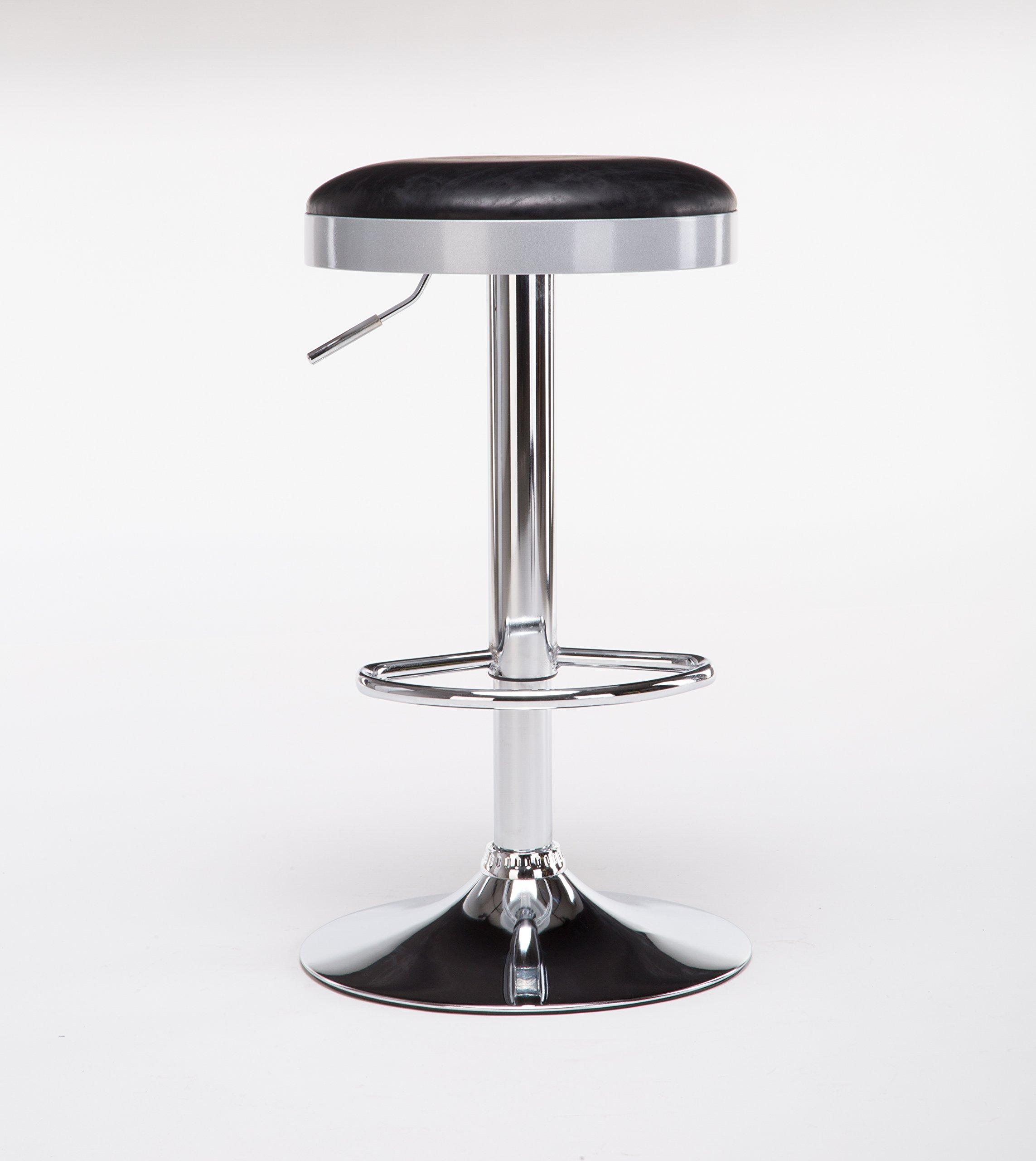 Boraam  Copley Backless Stool, 1-Pack, Adjustable Height, Black by Boraam (Image #5)