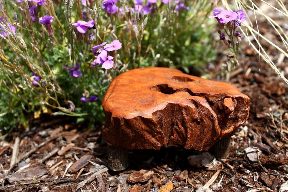 Top Collection Enchanted Story Garden Fairy Furniture Wooden Table Outdoor Decor