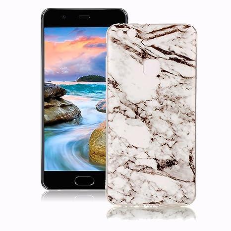 Funda Huawei P10 Lite Mármol, Yunbaozi Diseño Mármol Carcasa Suave Goma Silicona Soft Marble Case Textura de Piedra Natural Funda Liso Flexible ...