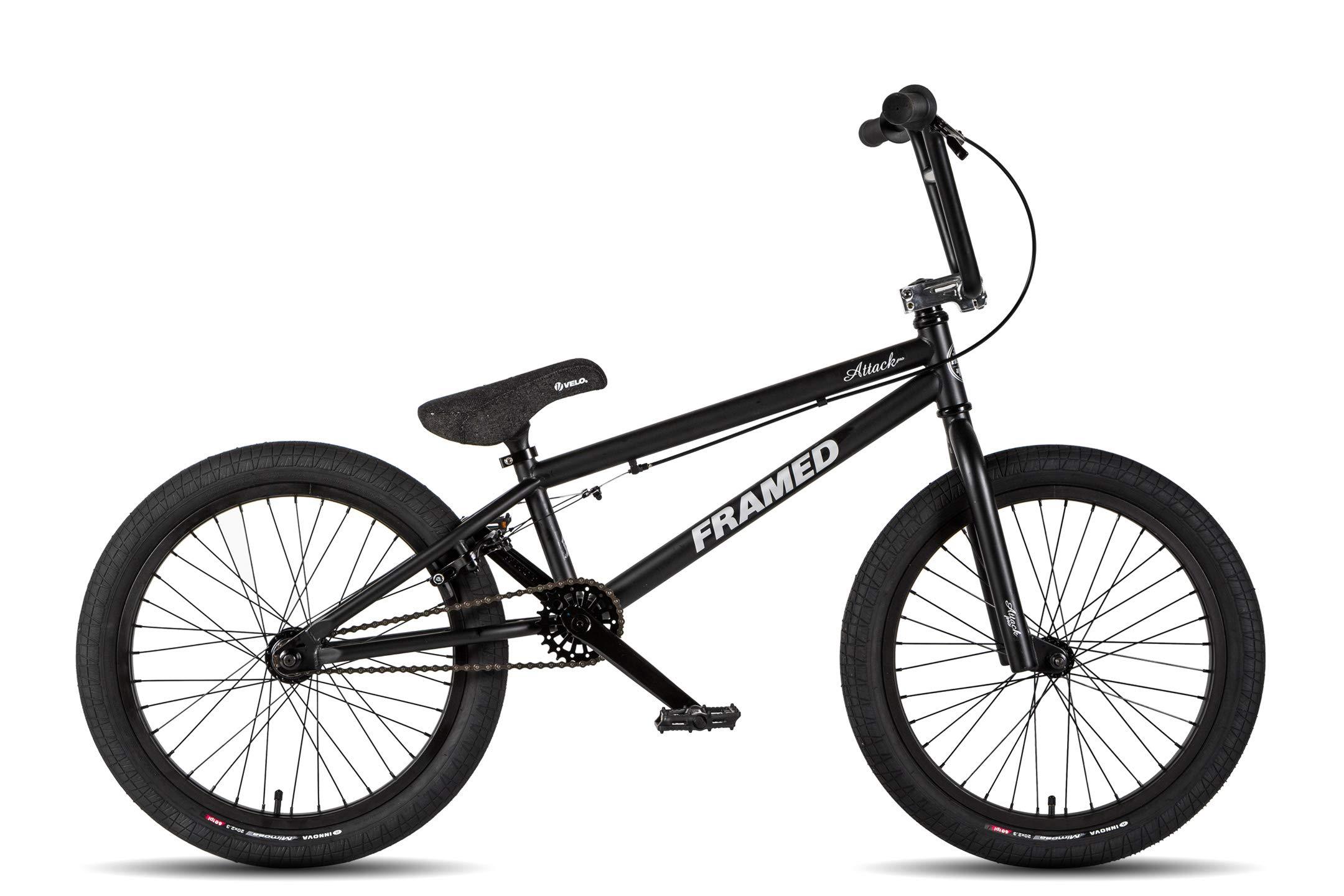 Framed Attack Pro Bmx Bike Black Silver Sz 20in Edgar