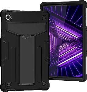 Epicgadget Case for Lenovo Tab M10 FHD Plus TB-X606F / TB-X606X (2nd Gen, 2020) - Hybrid Case Cover with Kickstand for Lenovo Tablet M10 FHD Plus 10.3 Inch Display 2020 Released (Black/Black)