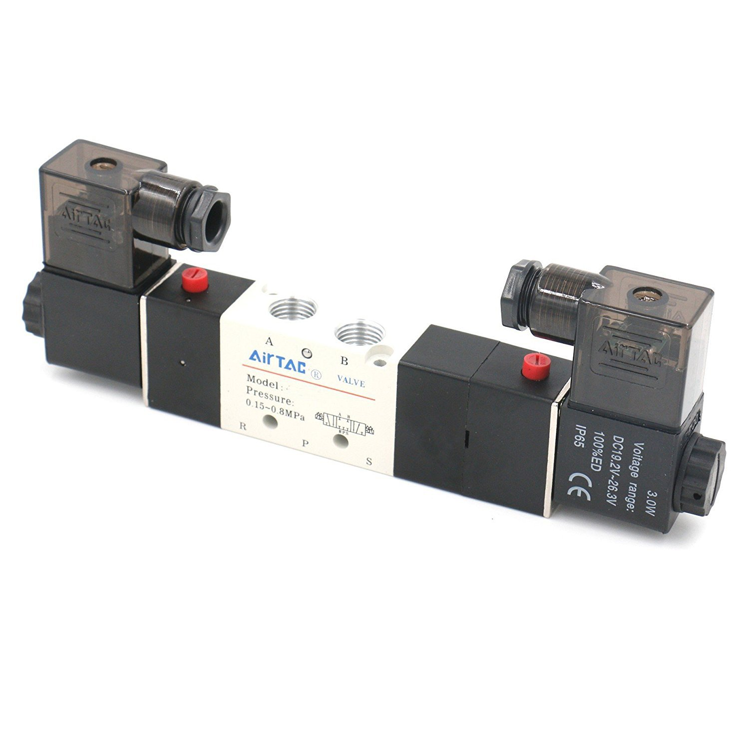 ETIAL Pneumatic Double Solenoid Valve PT 1//4 Air Valve 4V330C-08 DC 12V 5 Way 2 Position