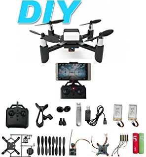 Amazon flexbot quadcopter kit toys games diy mini rc toy quadcopter drone set building kit with fpv hd camera rtf helicopter for solutioingenieria Image collections